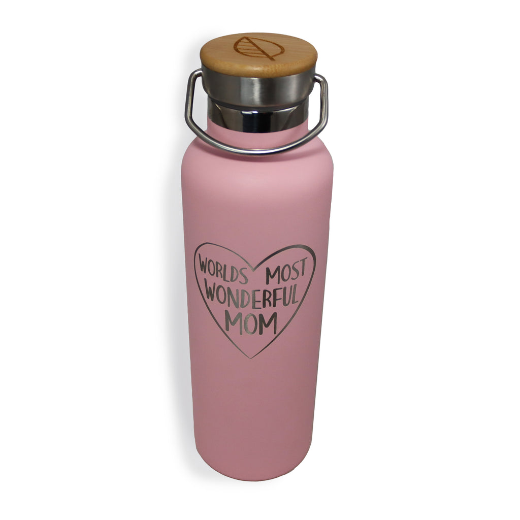 """World Most Wonderful Mom"" Thermos Bottle"