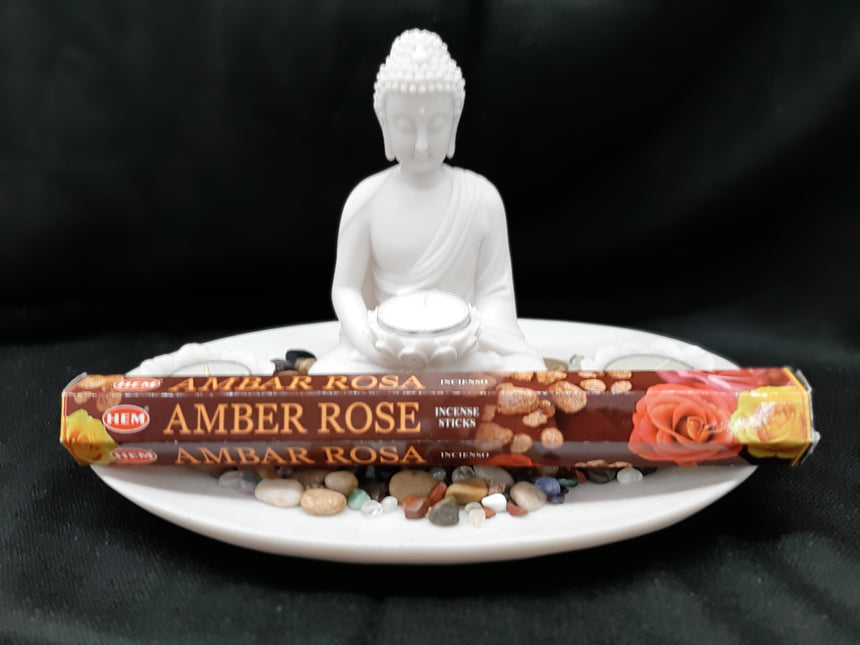 Incense Sticks Amber Rose (Hem) - 20 Sticks