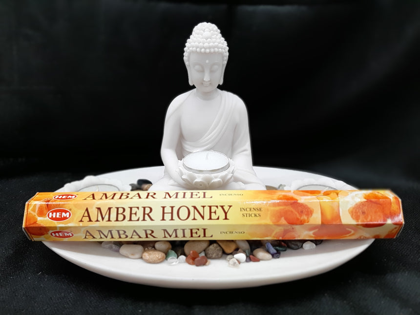 Incense Sticks Amber Honey (Hem) - 20 Sticks