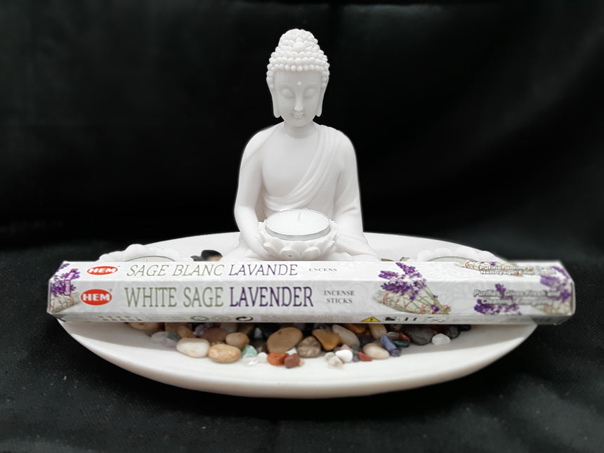 Incense Sticks White Sage Lavender (Hem) - 20 Sticks