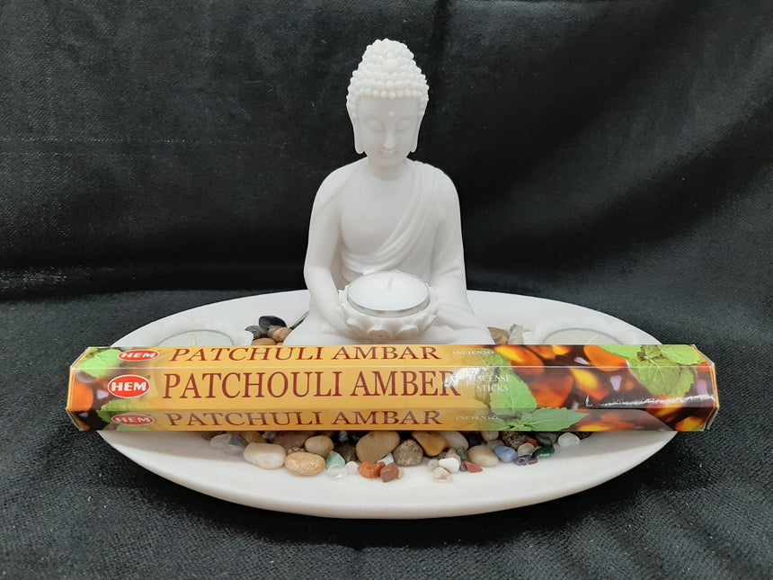 Incense Sticks Patchouli Amber (Hem) - 20 Sticks