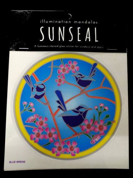 Sunseal - Blue Wrens, Decal, Sticker