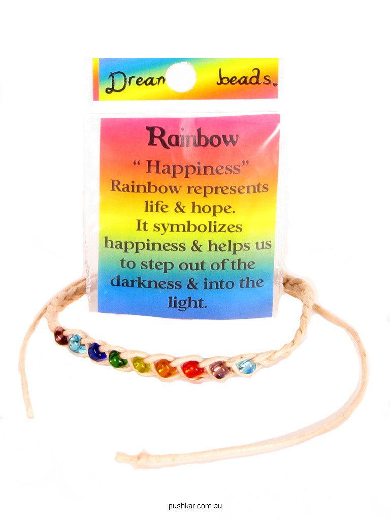 Dream Bead - Rainbow (Happiness), Hemp, Bracelet