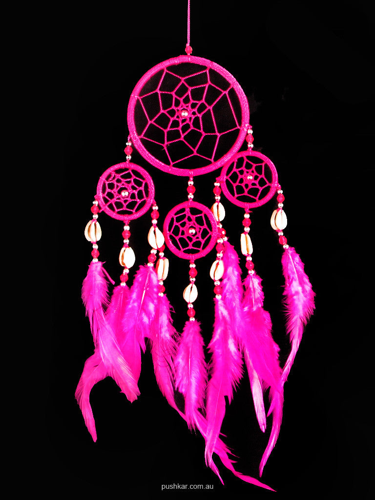 Pink With Shell (9cm), Small, Dream Catcher