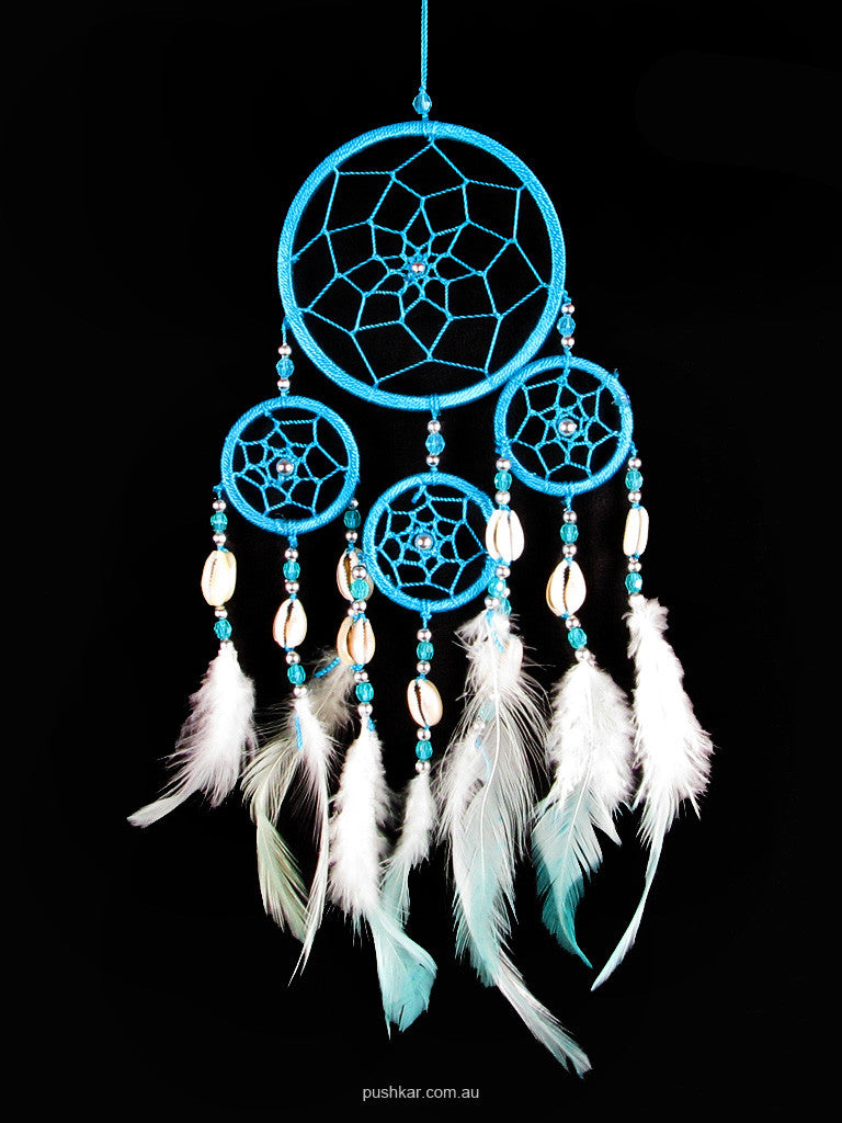 Turquoise With Shell (9cm), Small, Dream Catcher