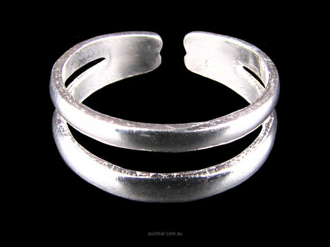 Two Band Simple - Sterling Silver, Toe Ring, Jewellery