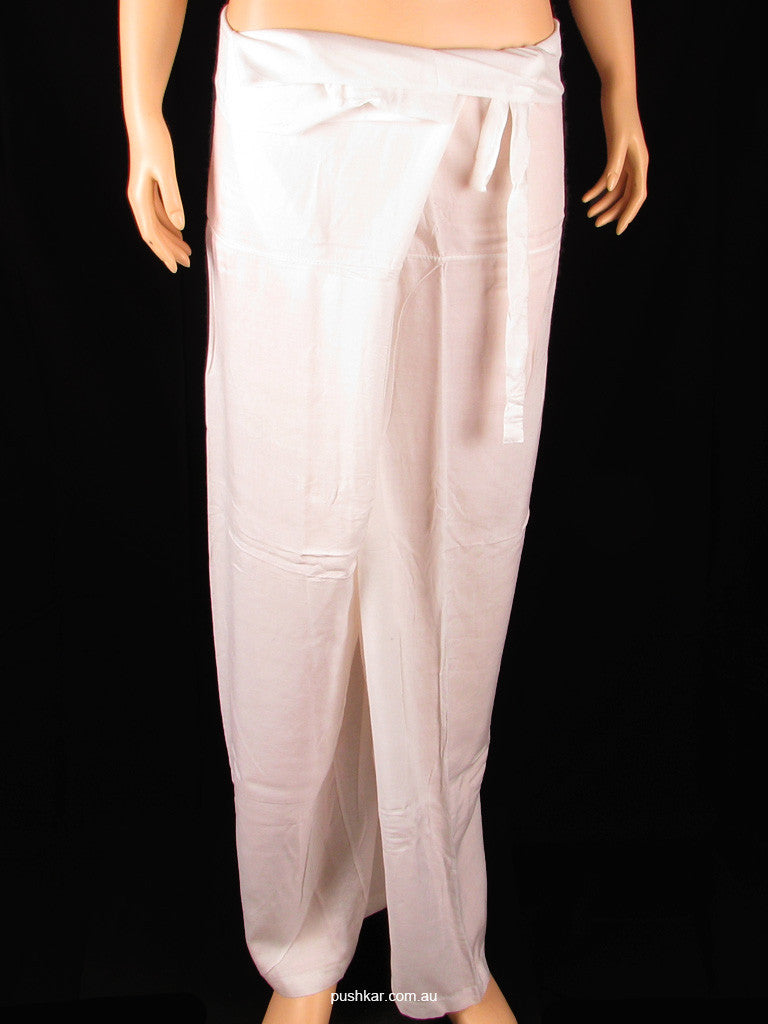 White, Cotton - Fisherman, Pants