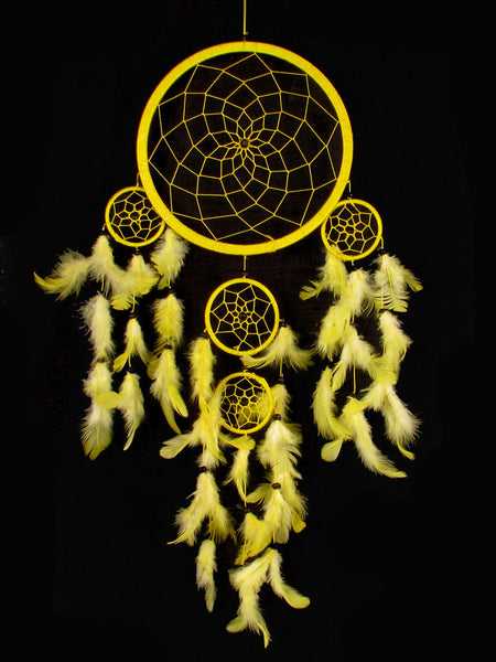 Yellow (22cm), Large, Dream Catcher