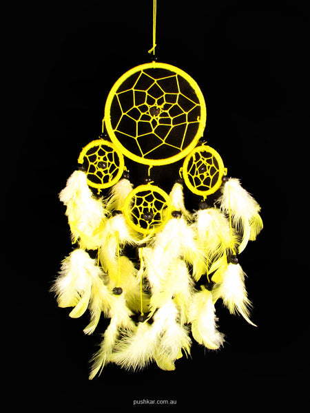 Yellow (9cm), Small, Dream Catcher