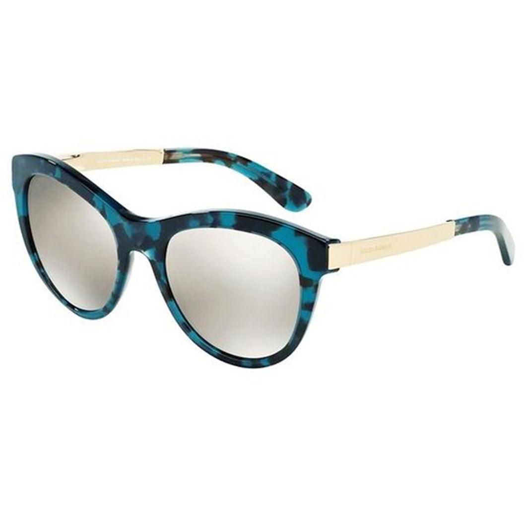 Dolce Gabbana Havana Blue Gold Mirrored 0DG 4243 6G