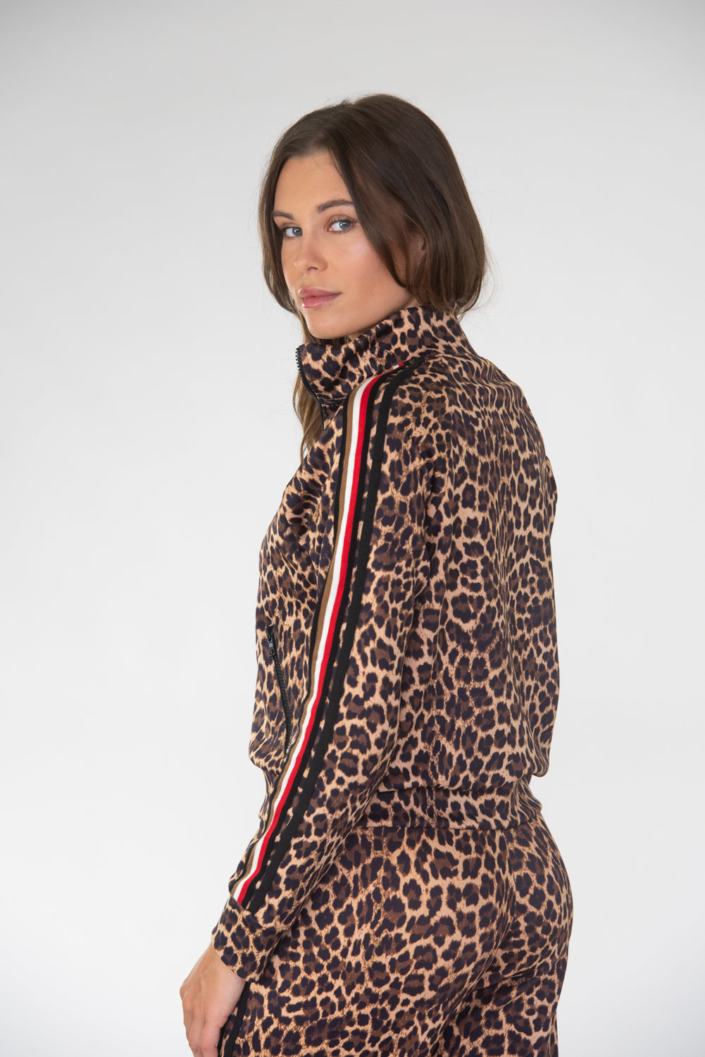 Leopard W/ Taping Track Jacket