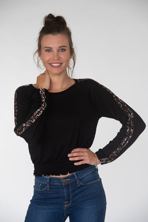 Cropped Leopard Taping Long Sleeve
