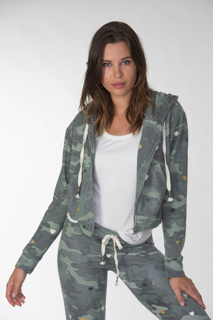 Cropped Camo Heart Jacket