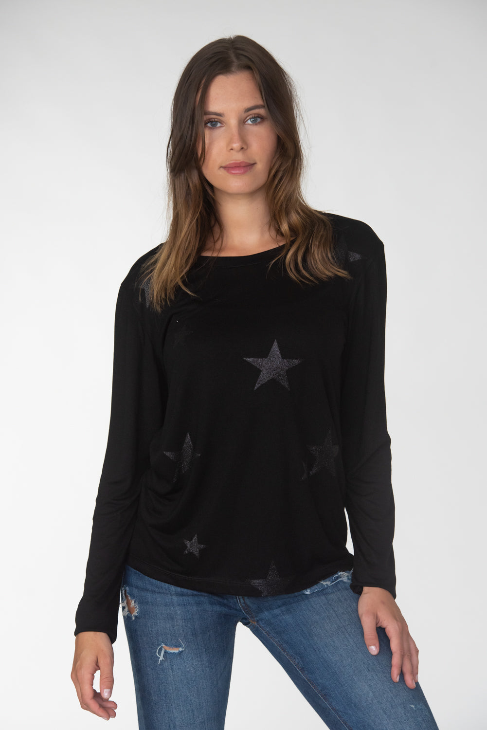 Glitter Stars Long Sleeve Tee