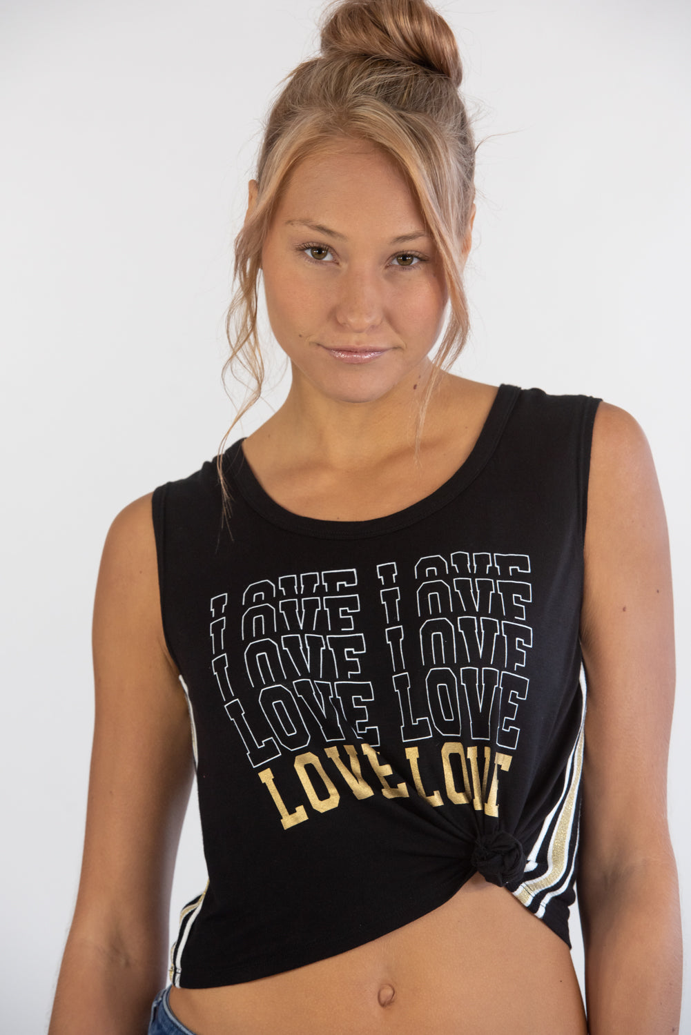Love Black Knotted Tank