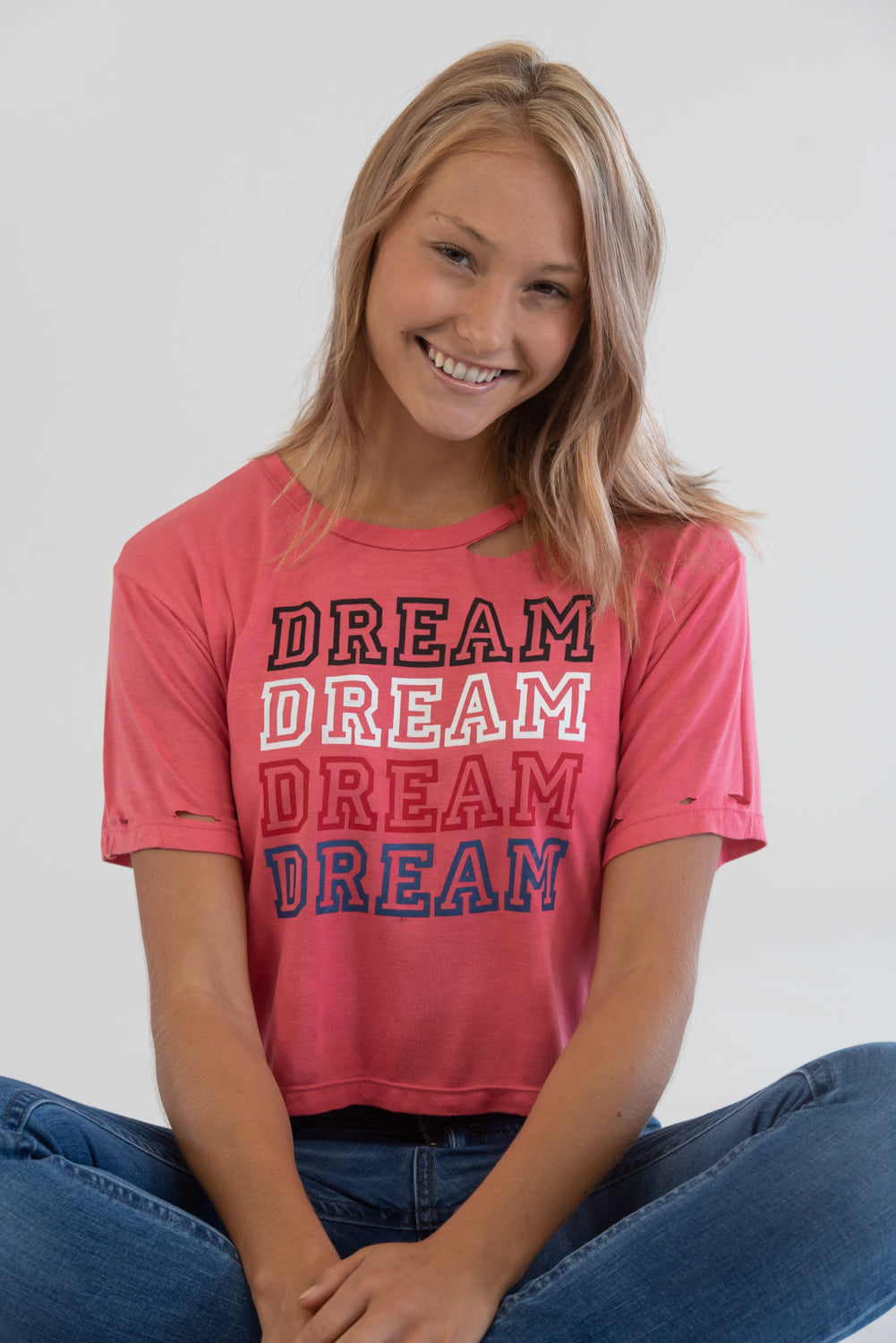 Dream Vintage Washed Red Tee