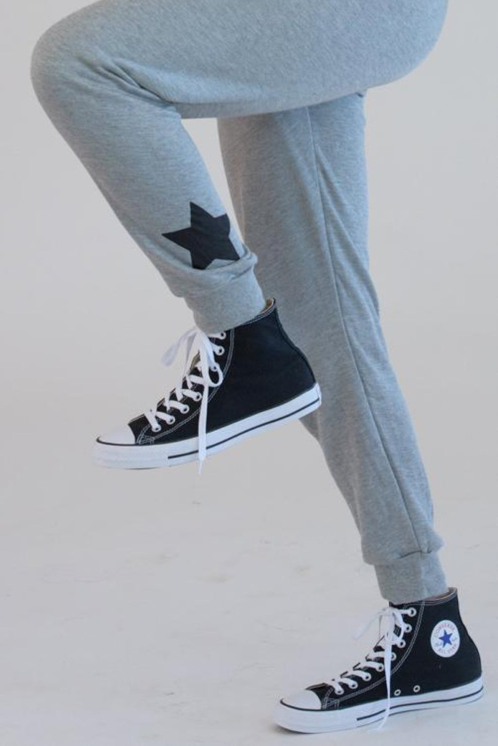 Heather Grey Sweatpants w/ Black Stars