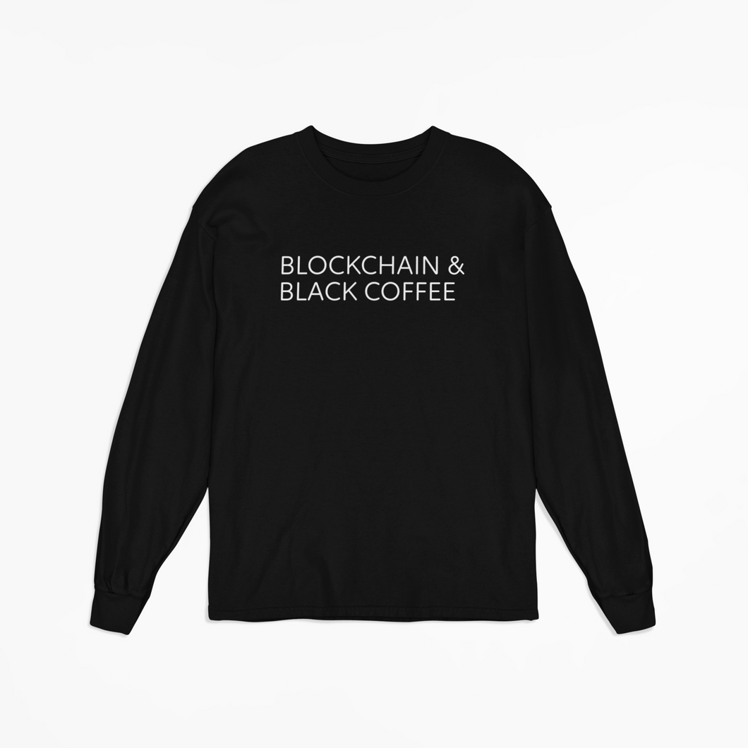 Blockchain & Black Coffee Long-sleeve Tee