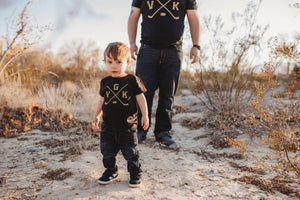 VGK golden knights fan t-shirts for kids and adults