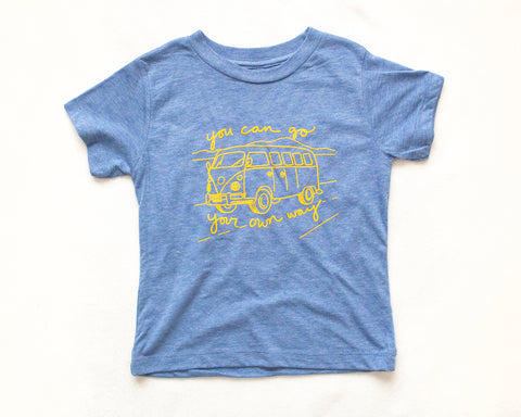 Go Your Own Way Blue T-shirt (kids)