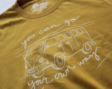 Go Your Own Way Yellow T-shirt (unisex)