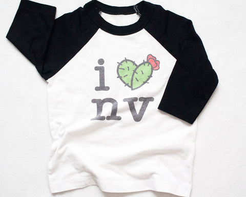 I Heart Nevada Raglan Baseball tee (kids)