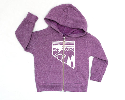 NV Silver State Icon Zip Hoodie (kids)