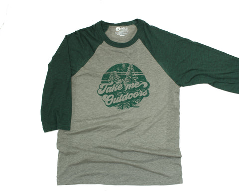 Take Me Outdoors Baseball Raglan (unisex)
