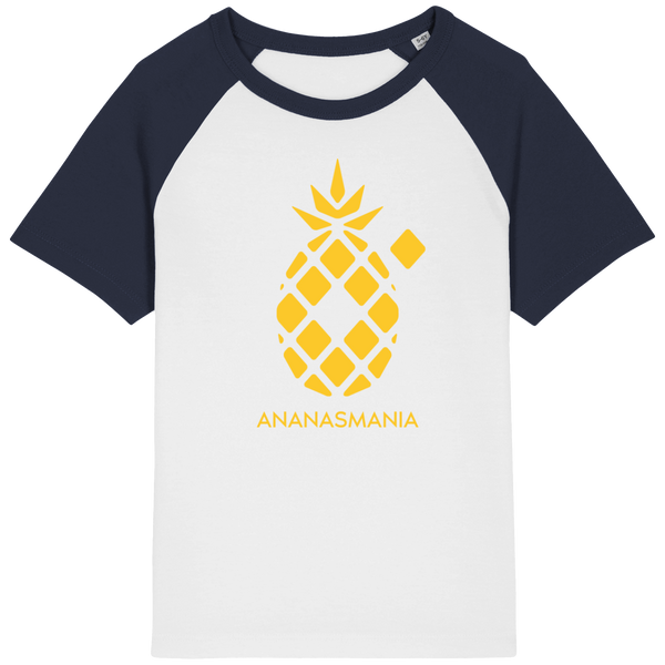 "T-shirt Baseball Enfant ""Ananas"""