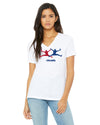 Acuna and Albies high five tshirt Braves Journal Womens v neck
