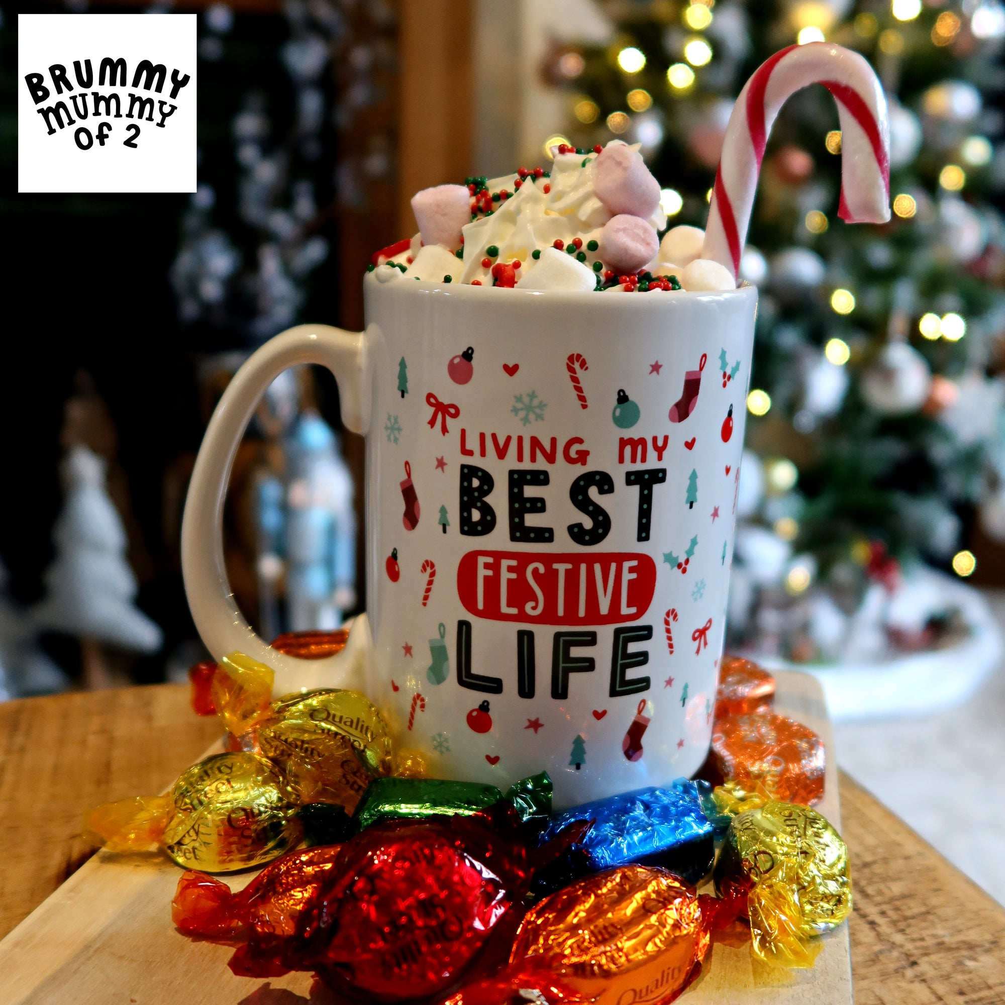 'Living My Best Festive Life' Big Mug
