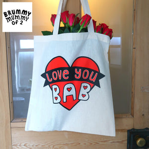 'Love You Bab' Tote Bag