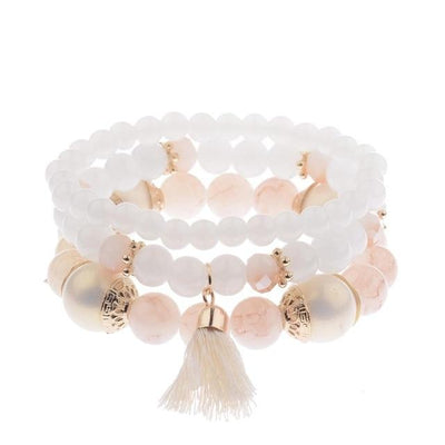 Amader 2017 Spring Summer Fashion Women's Bracelet Set 3Pcs/Lot High Quality Charm Beads Bracelet Jewelry For Ladies HXB002