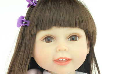 18'' 45CM AMERICAN GIRL Dolls Kids Playmate Doll Reborn Handmade Full Vinyl Body Newborn Baby Reborn Doll Cartoon Toy Girls Gift