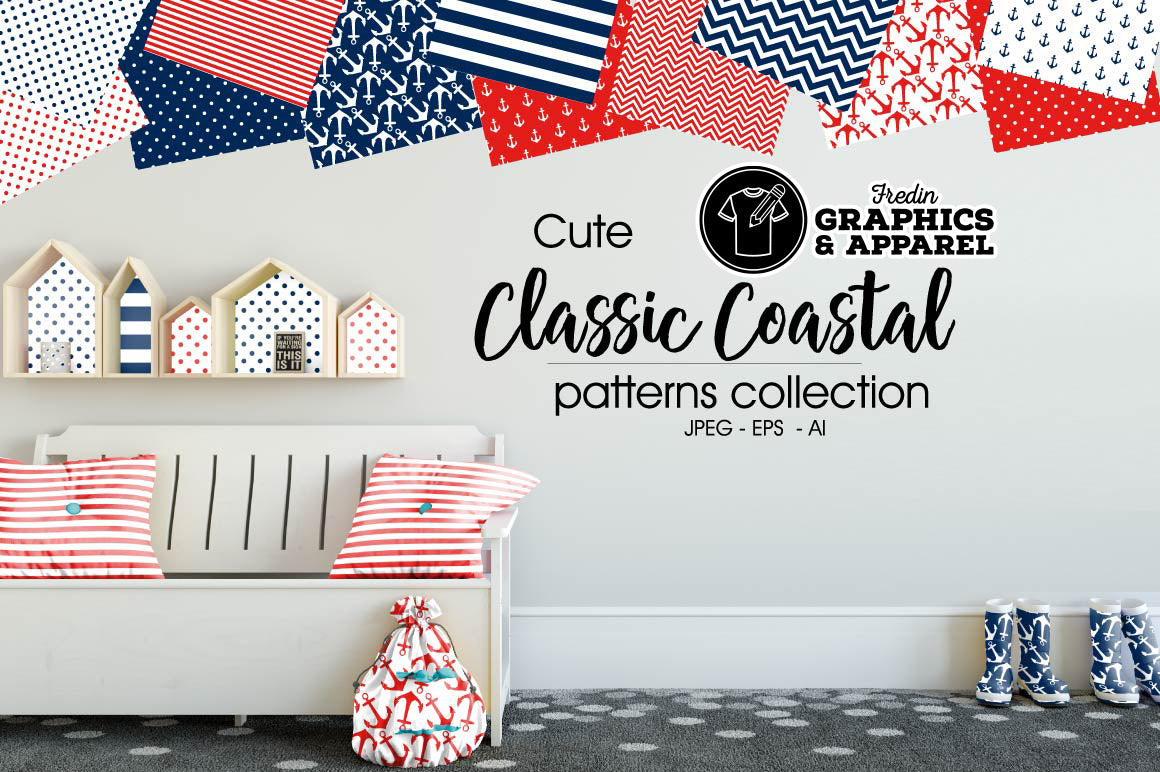 Classic Coastal 2 Patterned HTV