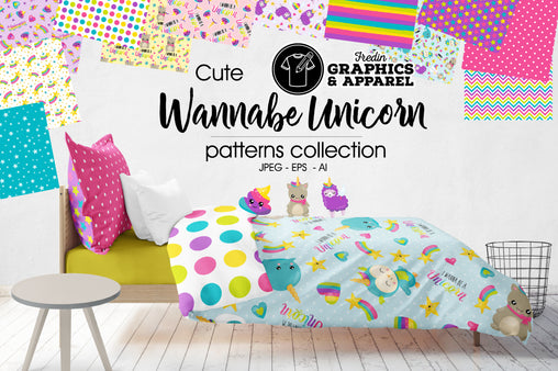 Wannabe Unicorn Patterned HTV