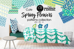 Spring Flowers Patterned HTV