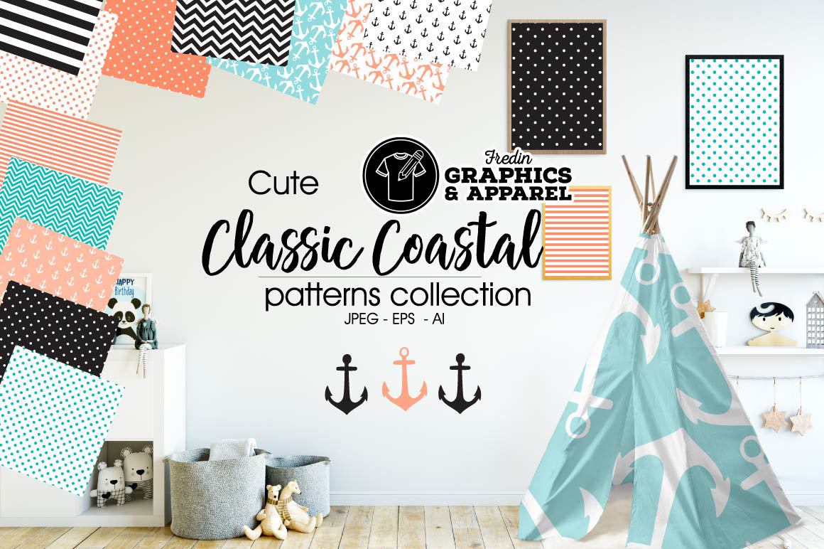 Classic Coastal Patterned HTV