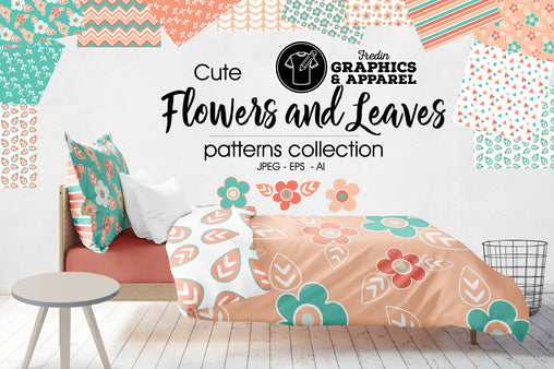Flowers and Leaves Patterned HTV