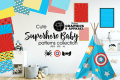 Superhero Baby Patterned HTV
