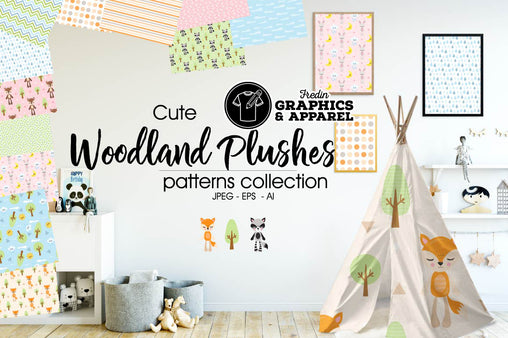Woodland Plushes Patterned HTV