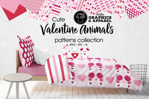 Valentine Animals Patterned HTV