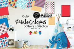 Pirate Octopus Patterned HTV