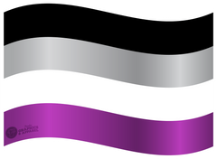 Asexual Flag Decal