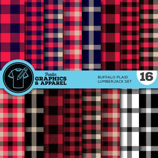 Buffalo Plaid Lumberjack Patterned HTV