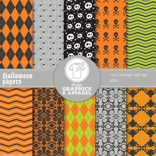 Halloween Papers Patterned HTV