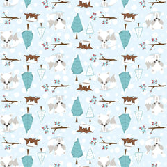 Winter Foxes Patterned HTV