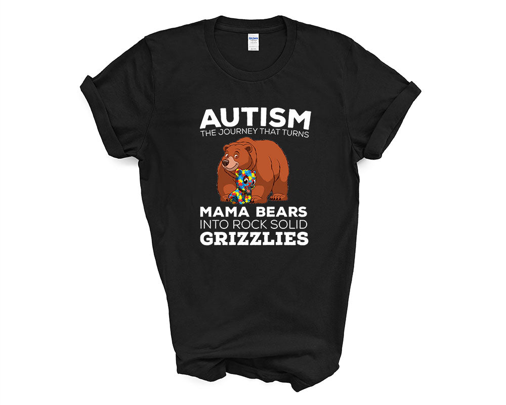 Autism the journey that turns Mama Bears into Grizzlies - Design 2