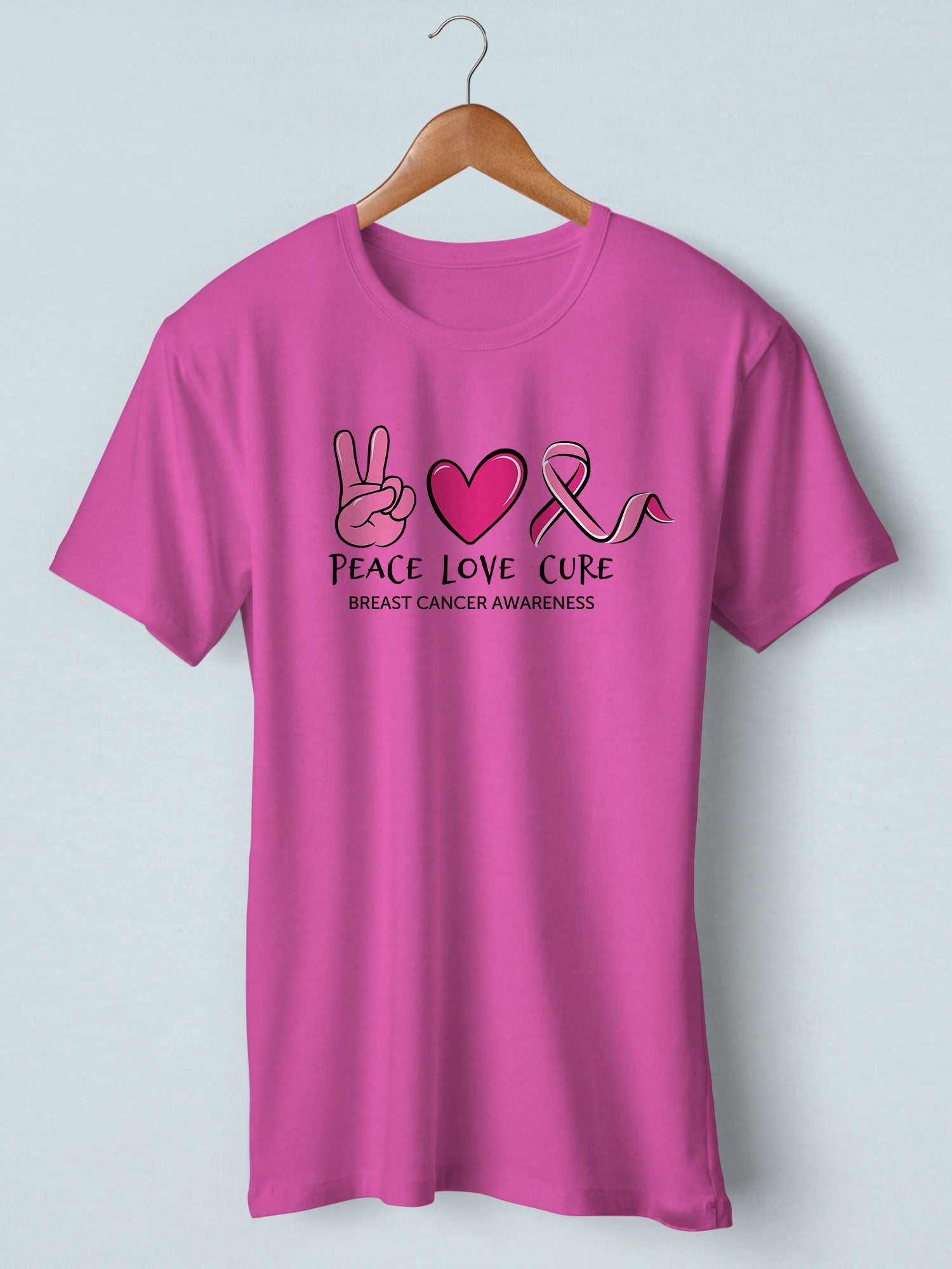 Peace Love Cure - Breast Cancer