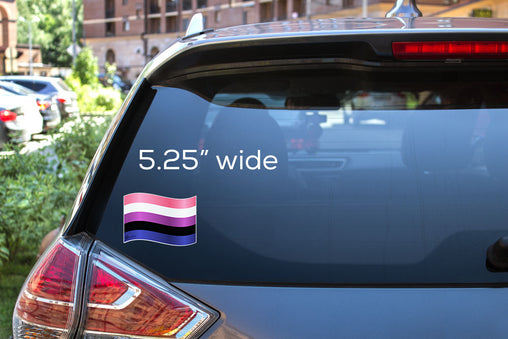 Gender-fluid Flag Decal